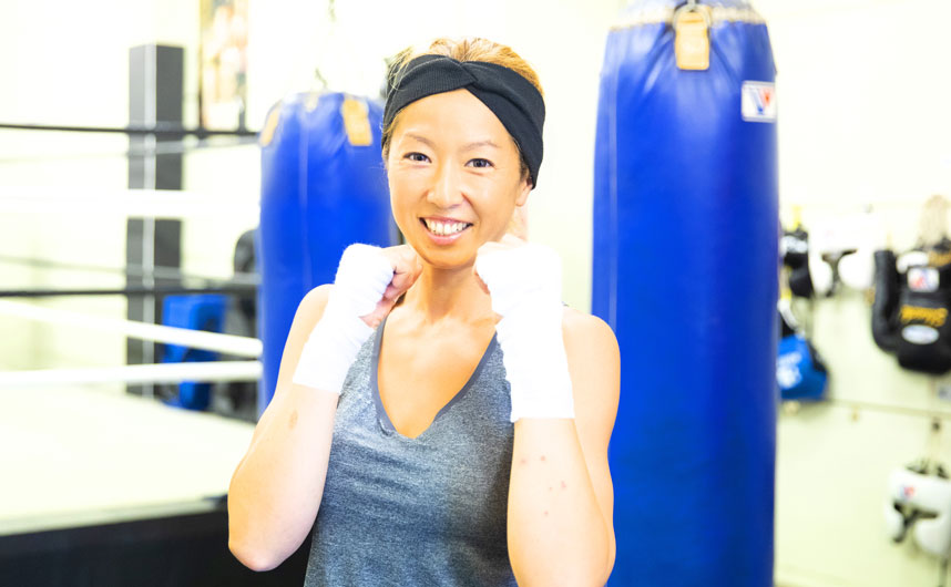 やっているうちに欲がでてきて今では女子ボクシングで日本一目指してます